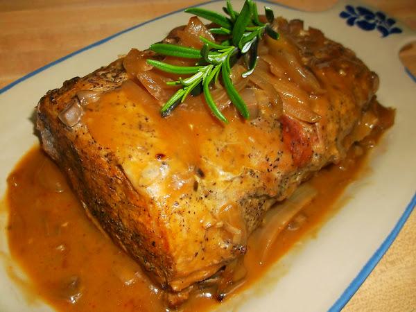 Slow-cooked Pork Roast With Gravy Recipe