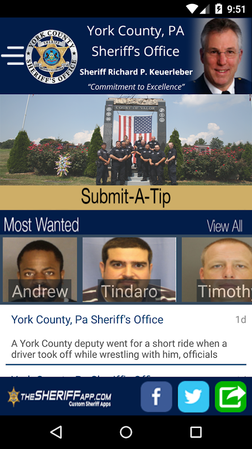 York County Sheriff- screenshot