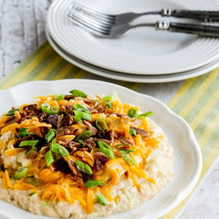 Instant Pot (or Stovetop) Low-Carb Loaded Cauliflower Mash.
