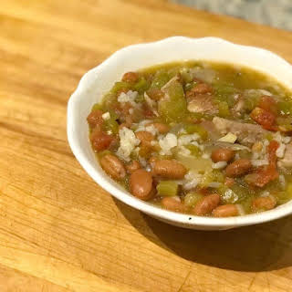 Colorado Hatch Green Chili with Pinto Beans.