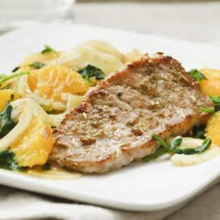 Pork Chops with Orange & Fennel Salad.