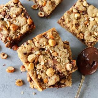 Hazelnut Nutella Cookie Bars.