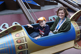 Photo: This was the first Astro Orbitor ride for both of us.