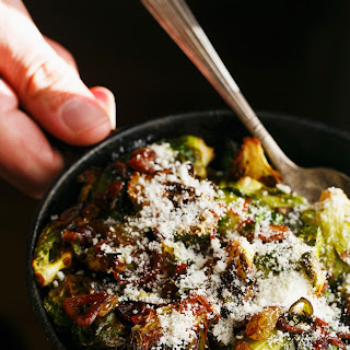 Roasted Balsamic Brussels Sprouts with Caramelized Shallots