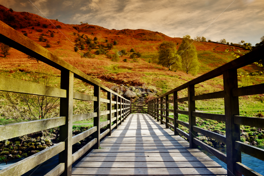 A Bridge by Vineet Johri - Buildings & Architecture Bridges & Suspended Structures ( foot bridge, vkumar photography, bridge, wodden bridge, uk tourist attractions, lake district )