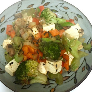 Stir Fry Tofu + Vegetables with Almonds