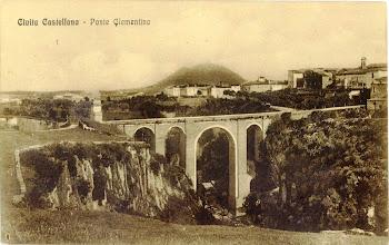 Photo: Ponte Clementino con sullo sfondo il monte Soratte. Inizi '900.