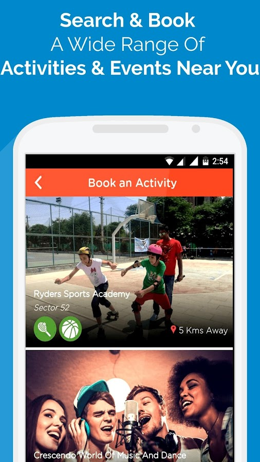Book nearby Activities & Events- screenshot