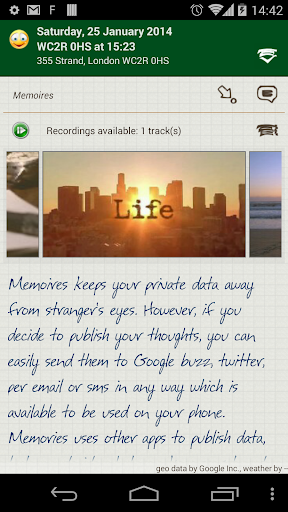 Memoires your personal diary screenshot 3