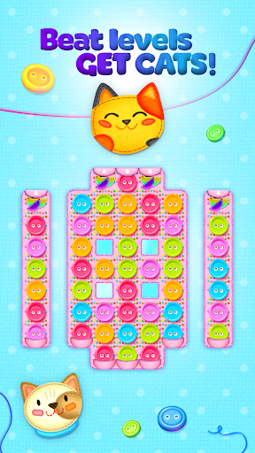 Button Cat: match 3 cute cat puzzle games cheat hacks