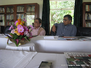"""Photo: Eminent thinkers from various parts of India met at Panchgani, Mahabaleshwar near Pune to discuss on Change for Better, a quarterly thought journal with a motto """"Better World Through Better People"""". Dr. Dabholkar and Mr. Abhay Vaidya"""