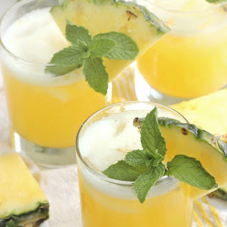 Skinny Mint Pineapple Margaritas