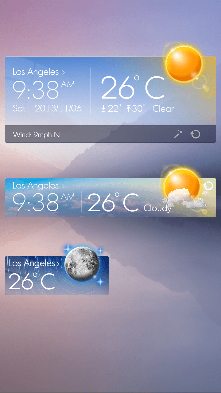 Скриншот Glass View Theme GOWeather
