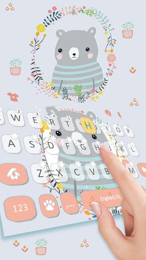 Cartoon Bear Keyboard Theme ss2