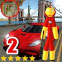 Us Iron Stickman Rope Hero Speed Gang star Crime ! icon