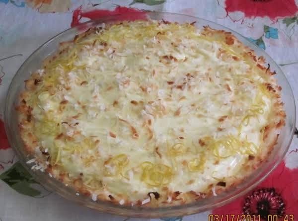 Lemon Cloud Pie In A Coconut Crust
