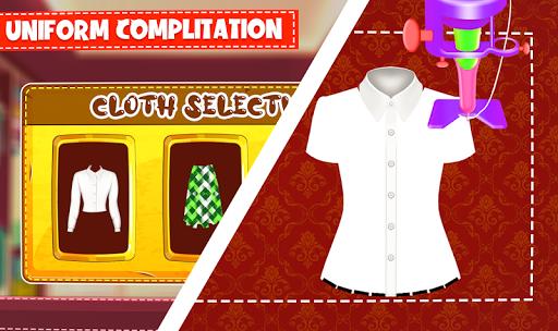 High School Uniform Tailor Games: Dress Maker Shop android2mod screenshots 4