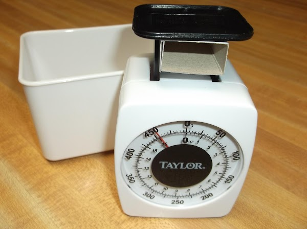 A food scale is a very handy tool for accurate portions and calculations.