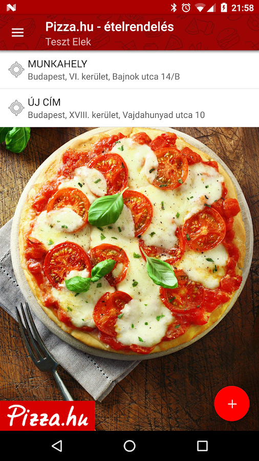 Pizza.hu - Food Ordering App- screenshot