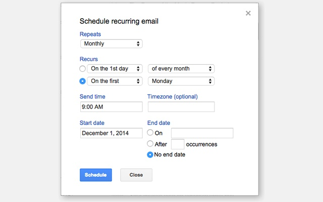 Schedule Emails In Gmail To Be Sent Later Create Recurring Set Reminders And Follow Up Conversations