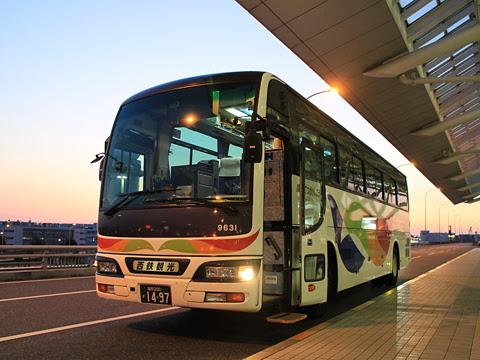 西鉄観光バス 9631 福岡空港国際線ターミナル到着
