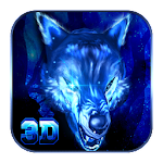 3D VR Live Ice Wolf theme Icon