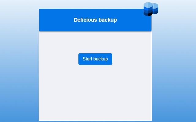 Delicious Backup