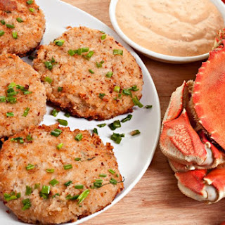 Louisiana Deviled Crab Cakes with Remoulade Sauce.