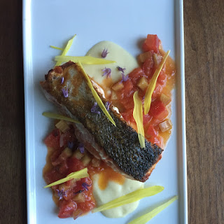 Salmon with a Rhubarb Relish