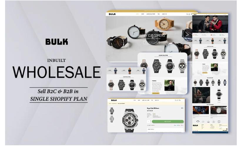 Bulk - Shopify wholesale theme