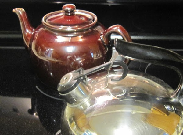 TEA KETTLE AND TEA POT TEA - The real old fashioned way.  Put...