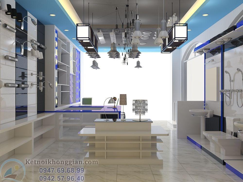 thiết kế cửa hàng thiết bị điện tại thanh hóa