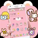 Pink Cute Cartoon Bear Theme icon