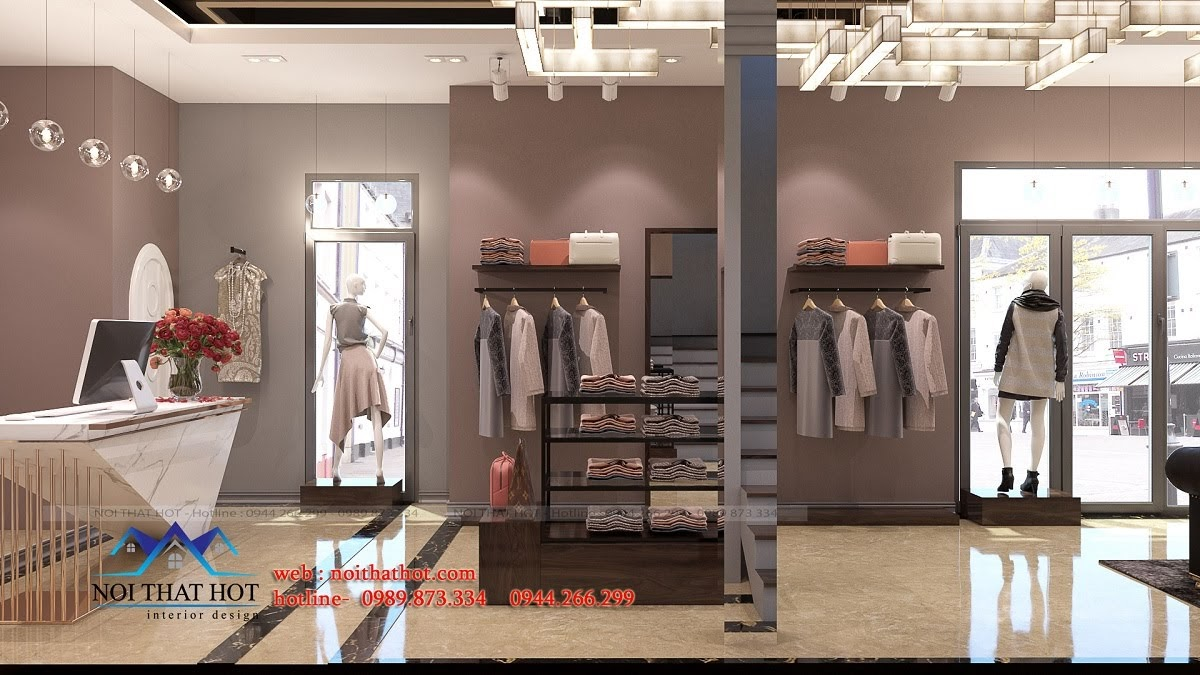 thiết kế shop thời trang sang trọng 6