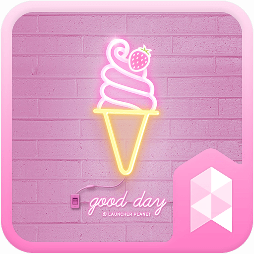 Simple Pink Neon theme