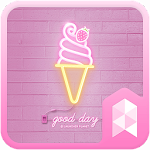 Simple Pink Neon theme Icon