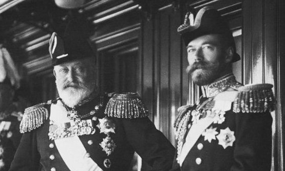British King Edward VII with his nephew, Russian Emperor Nicholas II. Their relationship was, on the whole, extremely cordial.