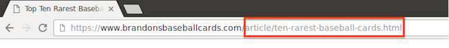 URL showing helpful, human-readable page name.