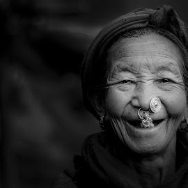 Age is just a number  by Prithwiraj Dhar - People Portraits of Women ( #india, #rural_area, #nikon, #blackandwhite, #portrait,  )