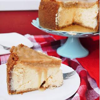 Apricot Cheesecake with Amaretto Caramel Recipe