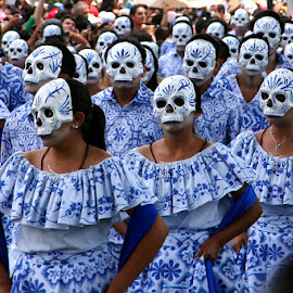 Máscaras  by Gliserio Castañeda G - People Musicians & Entertainers