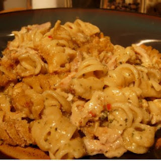 Baked Macaroni and cheese with chicken