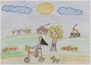 """Photo: praca Joli :""""Jeździmy rowerem, bo lubimy"""""""