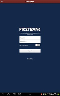 First Bank On The Go - Tablet- screenshot thumbnail