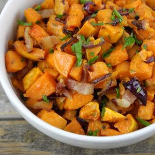 Maple-Bacon Roasted Sweet Potatoes