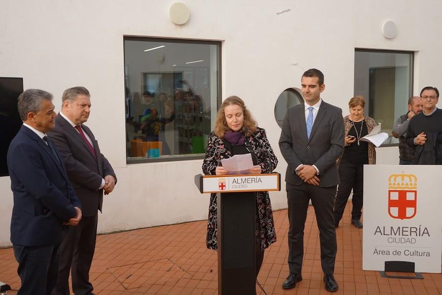 Familiares de José María Artero en la inauguración.