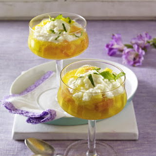 Tropical Fruit and Coconut Rice Pudding