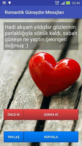Romantik Günaydın Mesajları screenshot