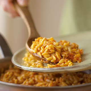 Baked Parmesan and Sweet Potato Orzo Recipe