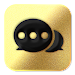 Black Golden SMS - Default SMS&Phone handler icon